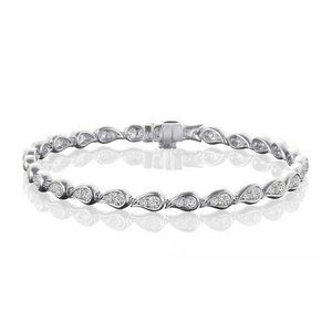 3.50 Carats round cut diamonds ladies bracelet whi